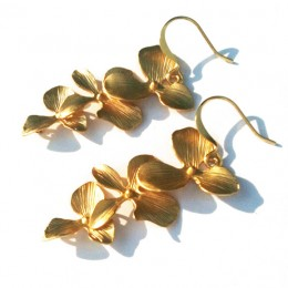 Cascading Gold Flowers 6