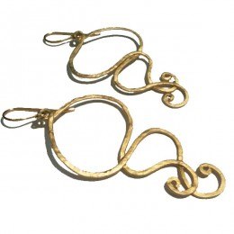 Swirl Earrings Gold 3