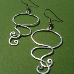 silver swirl earrings new for order form